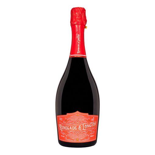 Renegade and Longton blush Elderflower and Rhubarb Sparkling Wine bottle